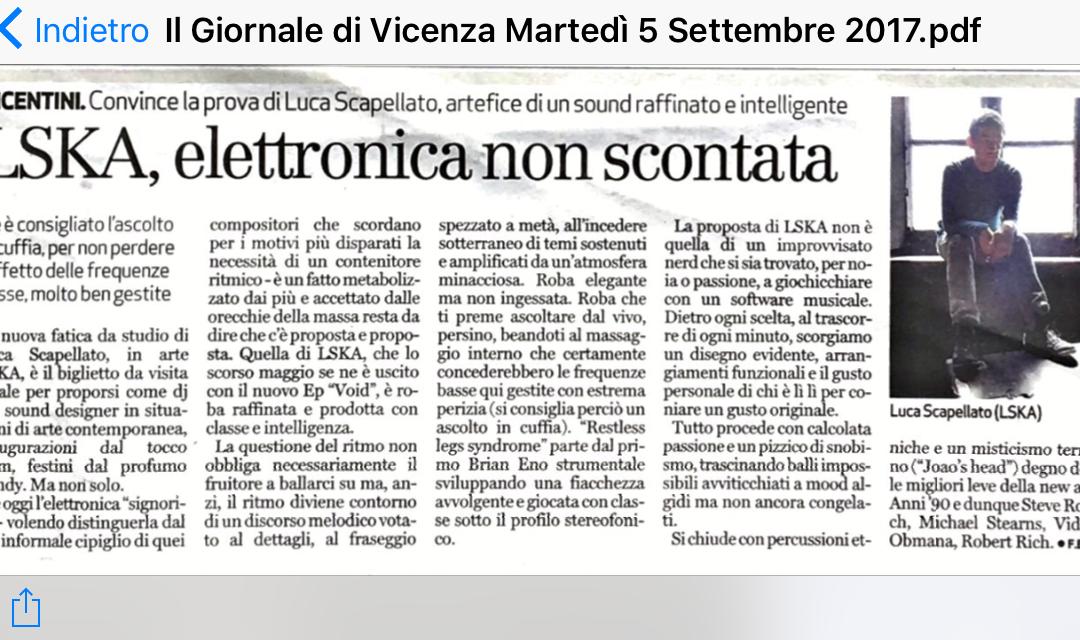 Il Giornale di Vicenza – 5/9/2017